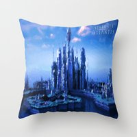 stargate Throw Pillows featuring The lost city by Samy