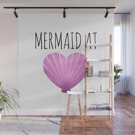 Mermaid At Heart Wall Mural