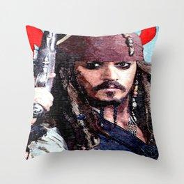 Jack Sparrow Throw Pillow