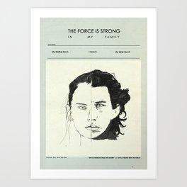 Star Crossed Siblings theory Art Print