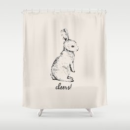 cheers little bunny Shower Curtain