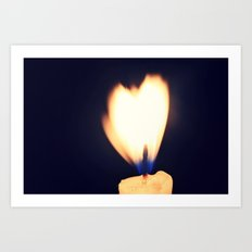 I see love, and it's burning Art Print