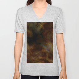 Space Clouds and Stars of the Universe Unisex V-Neck
