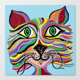 Grinning Cat Canvas Print