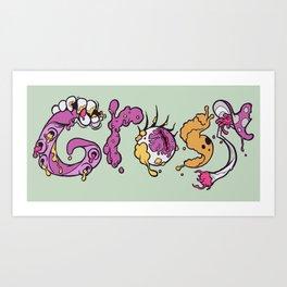 G R O S S Art Print