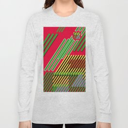Slicing Pattern—lines and clrs—⁄ ⁄⁄ neå† design!¡!¡!COOOOL!¡!¡!¡! Long Sleeve T-shirt