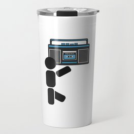 Dude with a boombox abstract drawing Travel Mug