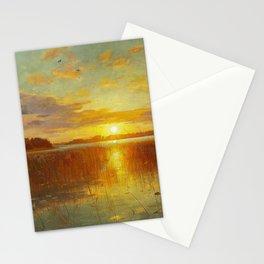 Ninigret Salt Pond, Charlestown, Coastal Rhode Island sunset landscape painting Stationery Cards