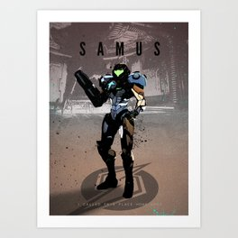 Legends of Gaming - Samus Art Print
