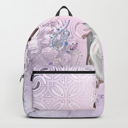 Wonderful fairy with dove and butterflies Backpack
