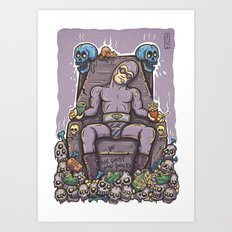 THE GHOST WHO SNACKS Art Print