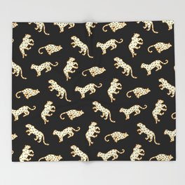 Leopard at Night Throw Blanket