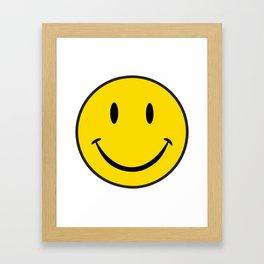 Smiley Happy Face Framed Art Print
