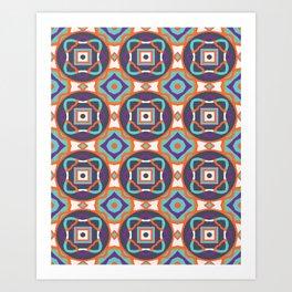 Wrangled Geometric Art Print