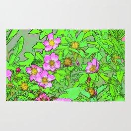 Sitka Rose Watercolor Rug