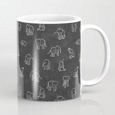 Indian Baby Elephants Blackout Mug