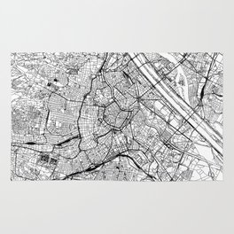 Vienna White Map Rug