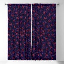 Spiral Bouquet Pattern Blackout Curtain