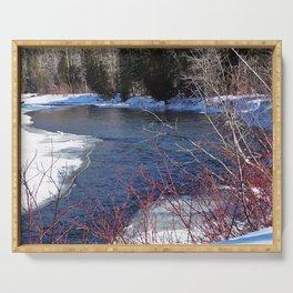 Cold River Running Serving Tray