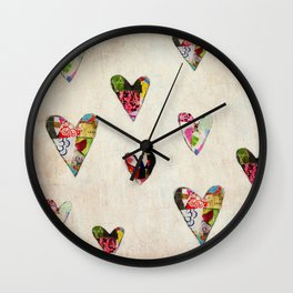 Hearts (antique) Wall Clock