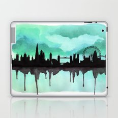 Mint Green London Skyline 2 Laptop & iPad Skin