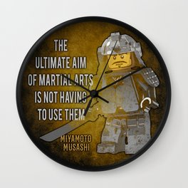 Samurai Musashi Martial Arts quote Wall Clock