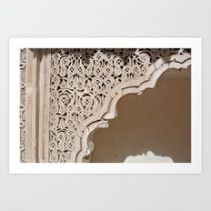Details at the Saadian Tombs Art Print