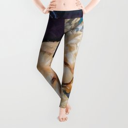 Copper and Penny Dog Art Leggings