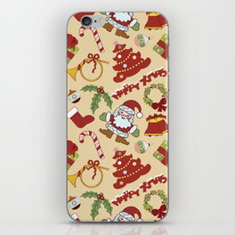 Christmas bells,tree and santa claus SB10 iPhone Skin