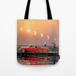 Car Over Water Tote Bag