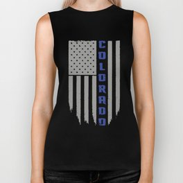 Colorado Thin Blue Line Hanes Tagless Tee colorado Biker Tank