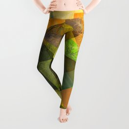P24 Trees and Triangles Leggings