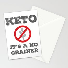 Keto Diet Low Carb Diet It's A No Grainer Funny Keto Gift Stationery Cards