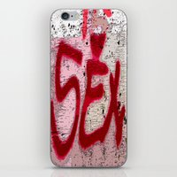 sex and the city iPhone & iPod Skins featuring Sex by Lior Blum