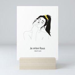 I don't care - power woman Mini Art Print