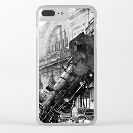 Train wreck at Montparnasse Station (1895) Clear iPhone Case