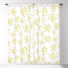 Happy Sunshine Print Blackout Curtain
