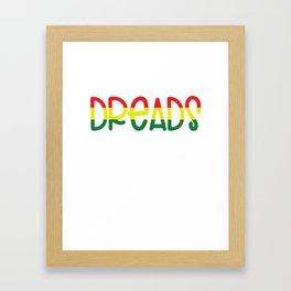 Wash My Dreads design - Reggae Dreadlocks Rasta Hair Framed Art Print