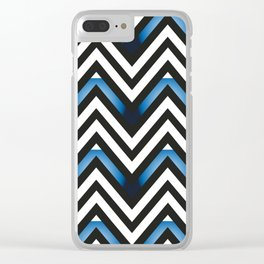Blue as can be Clear iPhone Case