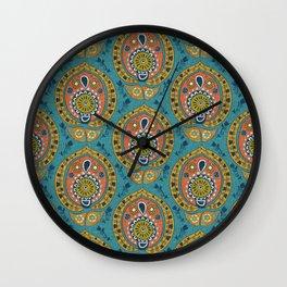 safa blue Wall Clock
