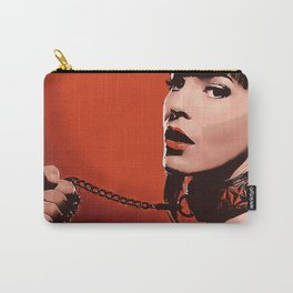 Red Lips - bondage, bdsm fantasy, kinky beauty on leash, sexy brunette slave girl, adult NSFW erotic Carry-All Pouch
