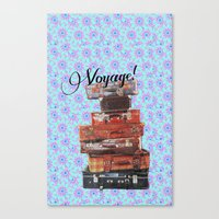 voyage Canvas Prints featuring VOYAGE! by Ylenia Pizzetti