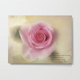 Go Lovely Rose Metal Print