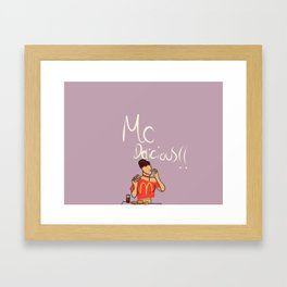 McDelicious Framed Art Print