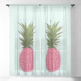 PINEAPPLE ROSES Sheer Curtain