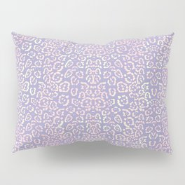 Lavender Purple Cat Print Animal Pattern with a Blush of Pink Pillow Sham