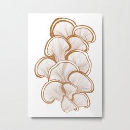 Mushrooms in Copper Metal Print