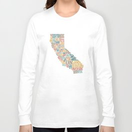 California by County Long Sleeve T-shirt