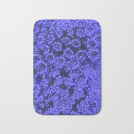 Blue Queen Anne's Lace (Up Close) Bath Mat
