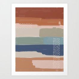 Abstract Terracotta Art Print